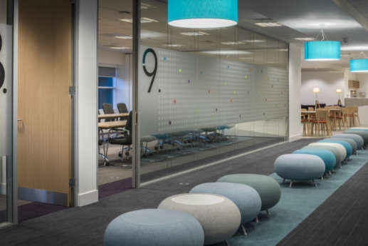 Alternative seating outside meeting rooms