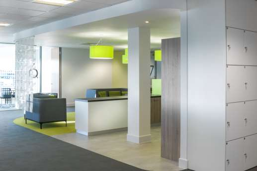 Bright green in modern office fit out