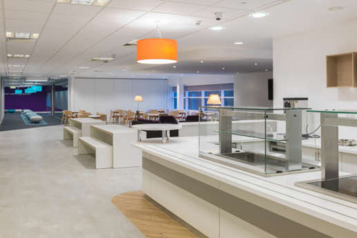 Staff canteen area