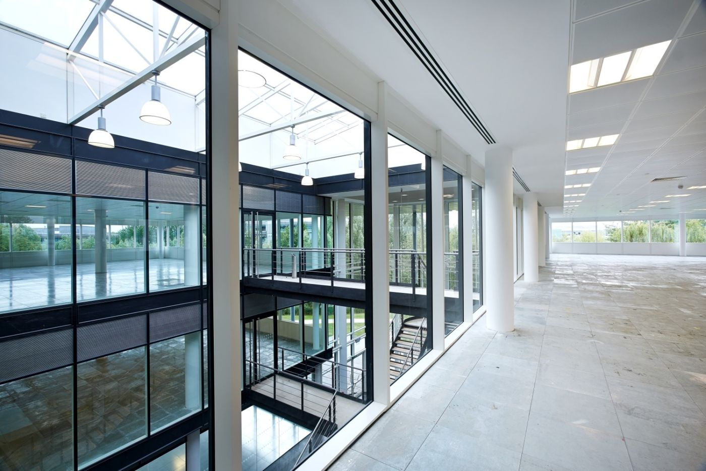 Office fit out of modern exterior