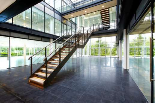 Modern office design of staircase