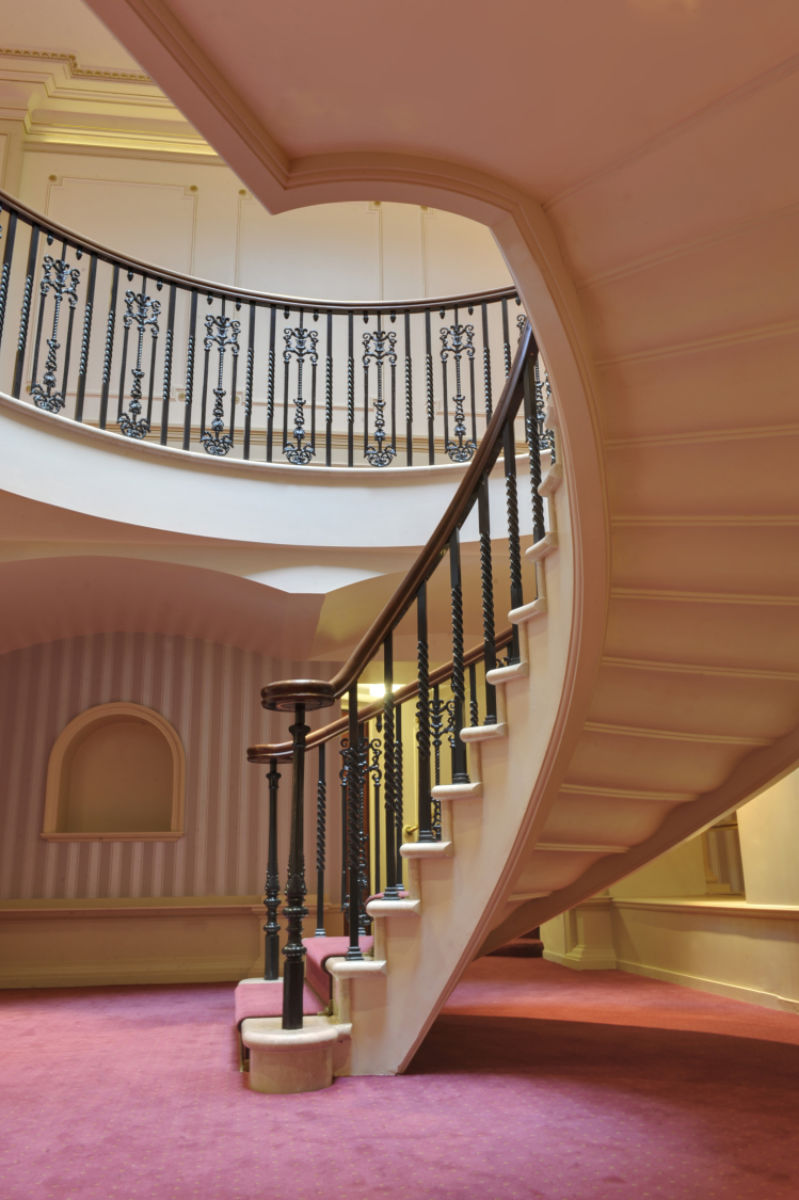View of bottom of staircase