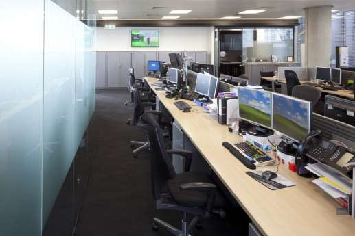 Desks in London office fit out