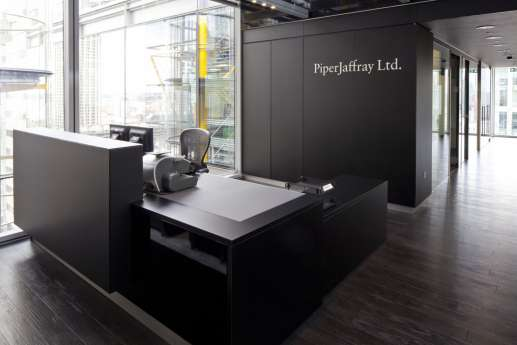 Modern office reception in London