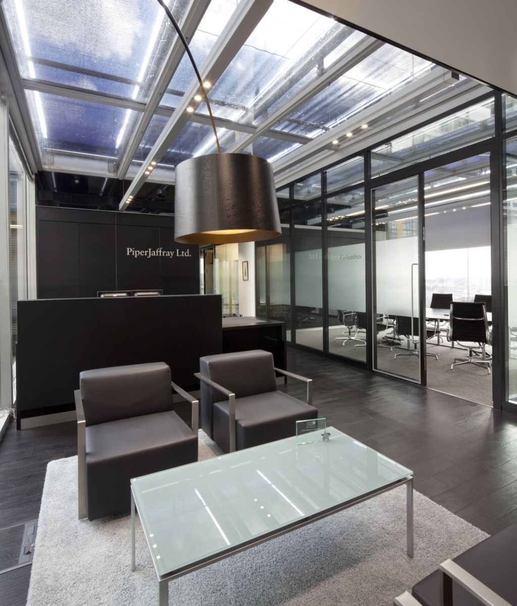 Seating in designer office reception