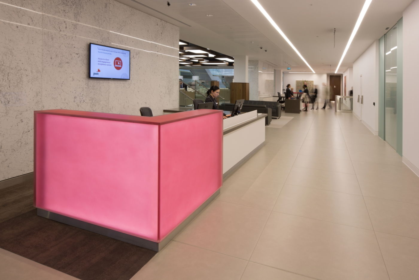 Office fit out of reception area