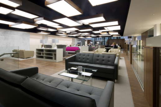 Sofas in modern fit out