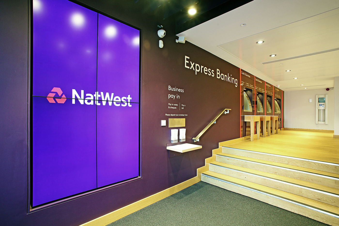 Natwest logo on a screen