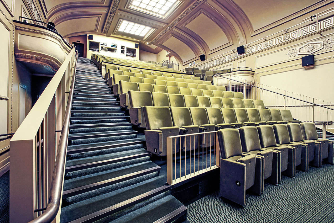 Sideview of cinema seating