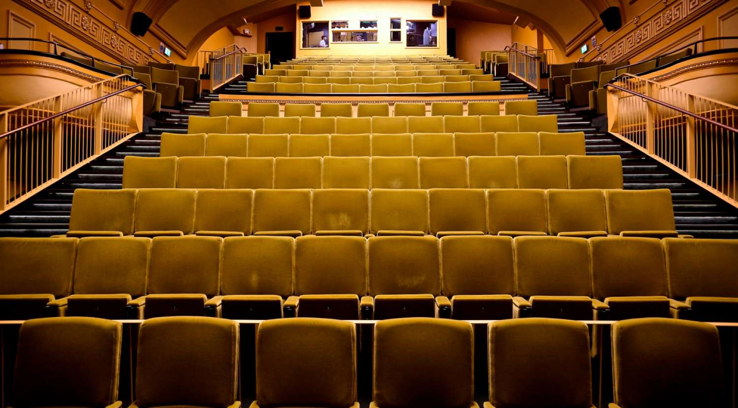 Front view of cinema seating