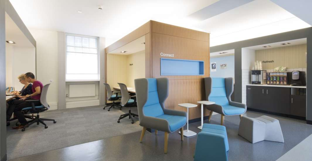 Tea point in informal seating area