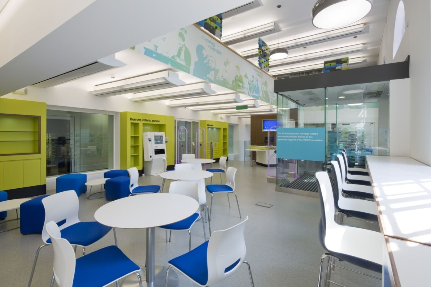 Seating area in library fit out