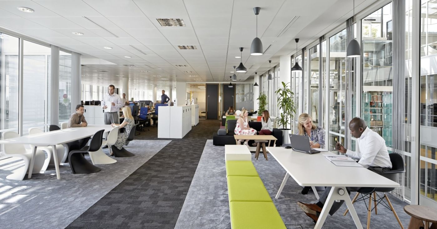 People talking in office fit out