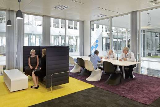 Office design of informal meeting area