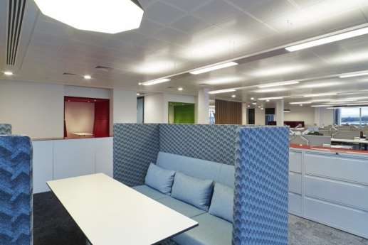 High backed booth in office fit out