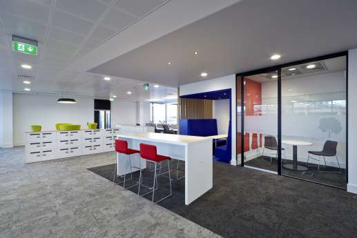 High tables in informal office fit out