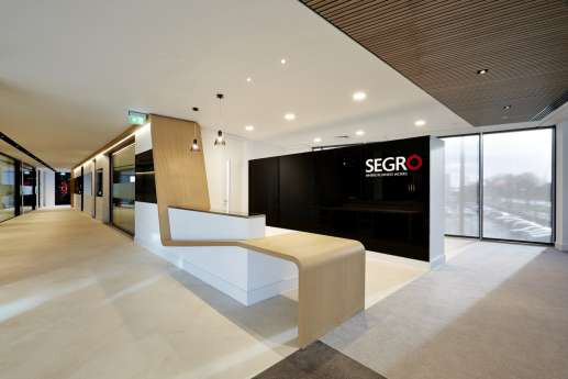 Modern fit out of office reception
