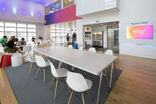 Fit out design of modern eating area