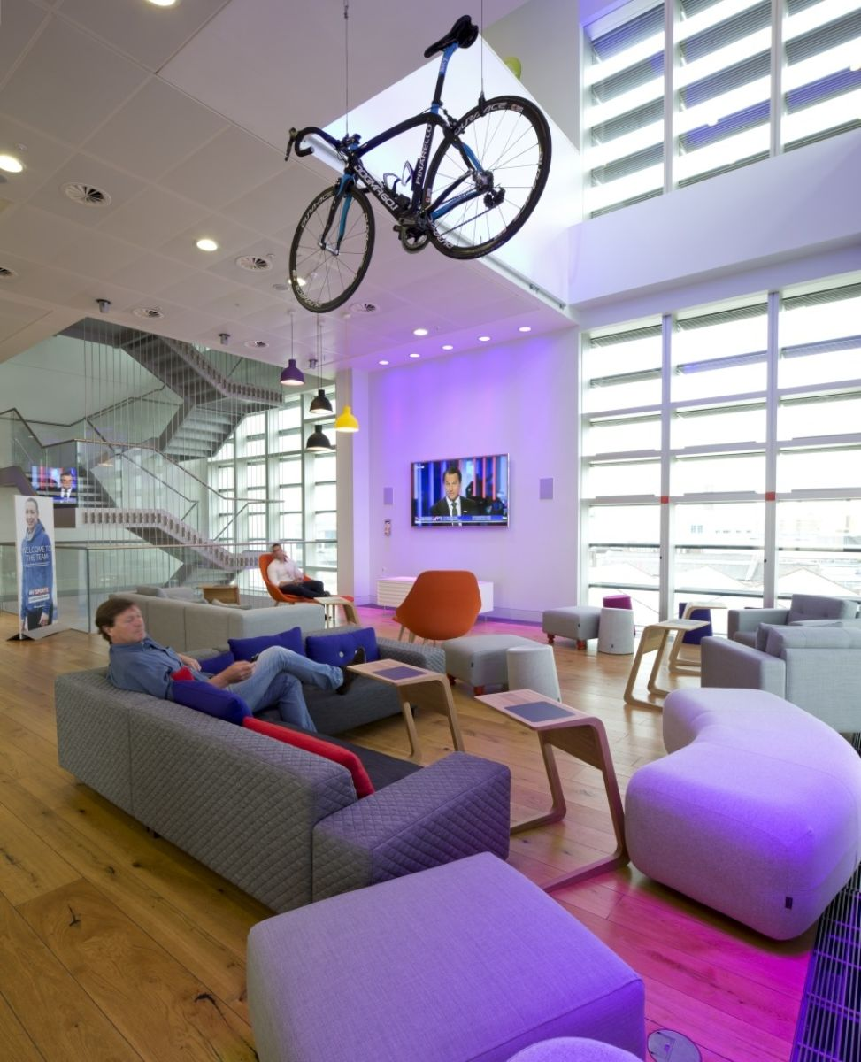 Relaxed open plan seating area