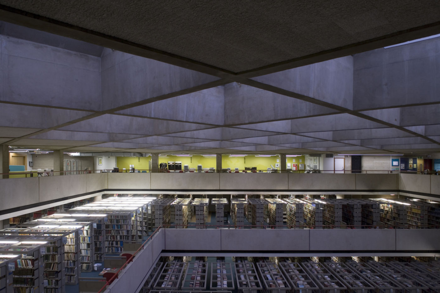 Arial view of library fit out