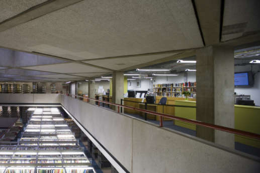 Mezzanine view of student library