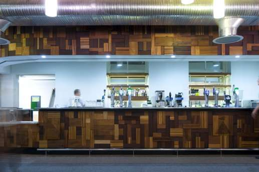 Wooden design in student bar