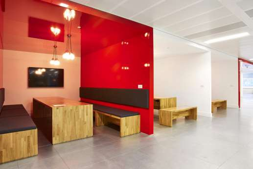 Fit out with informal staff meeting booths