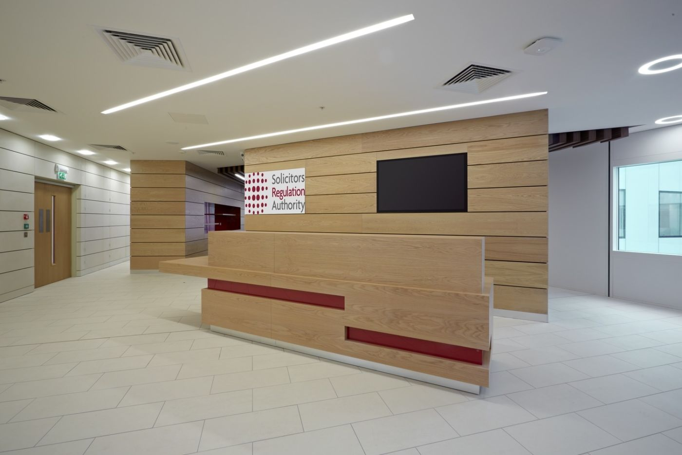 Fit out of reception desk