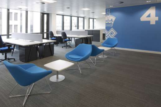Designer office seating area in London