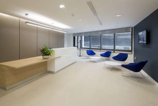 Office fit out with designer furniture