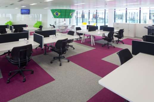 Computer desks in office fit out