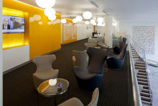 Funky seating in informal fit out