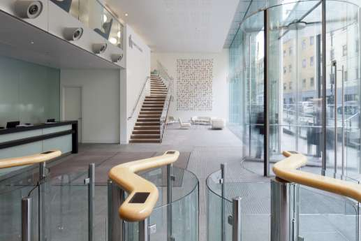 Entrance to office reception