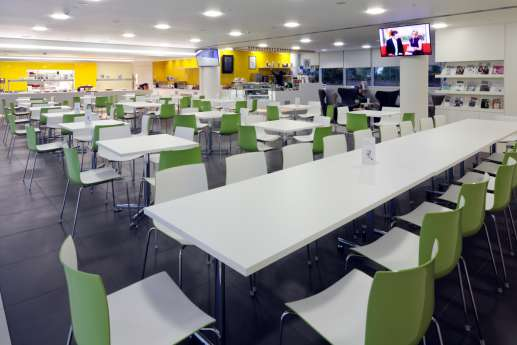 Tables in staff seating area