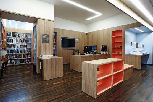 Library reception area