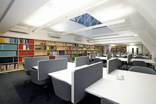 Quiet study area in the library