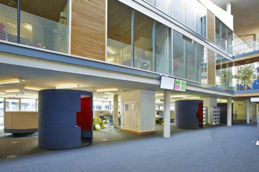 View of different levels in the library