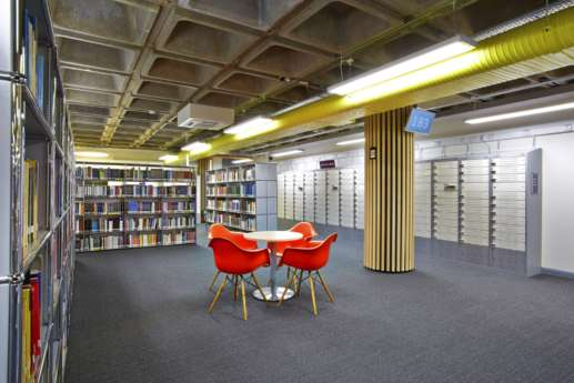 Seating area in modern library