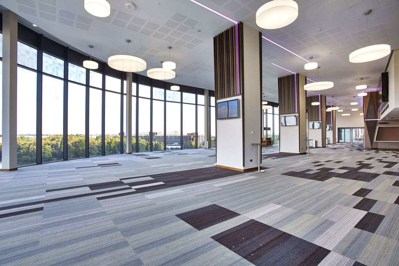 Floor to ceiling windows in office fit out