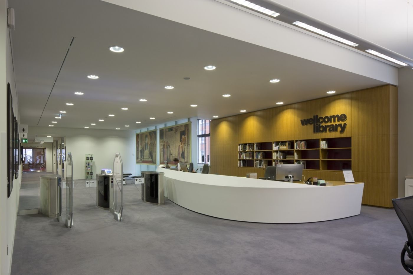Fit out of modern reception