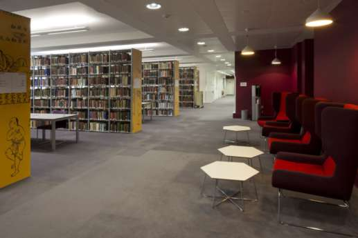 Informal seating area in the library