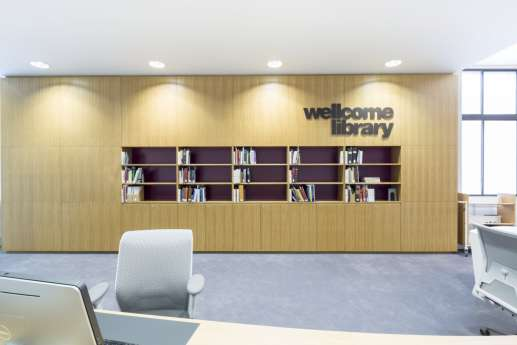 Wellcome library logo design