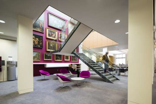Modern staircase office design