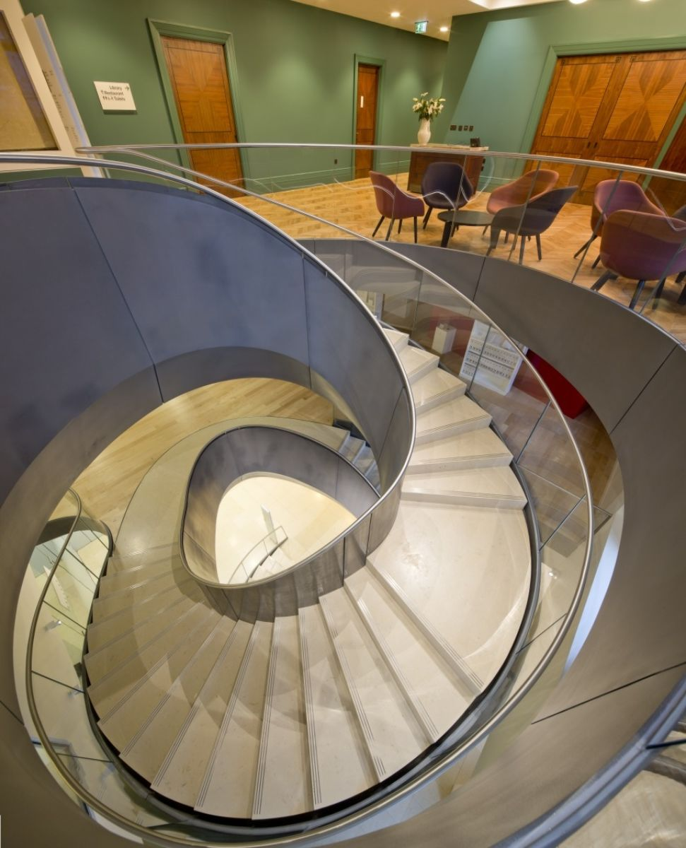 Fit out of spiral staircase