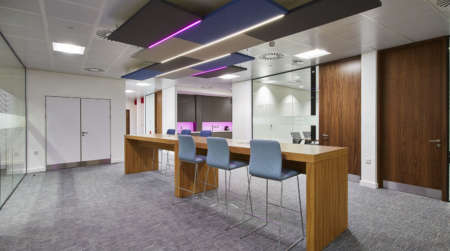 Feature lighting in Goodyear office