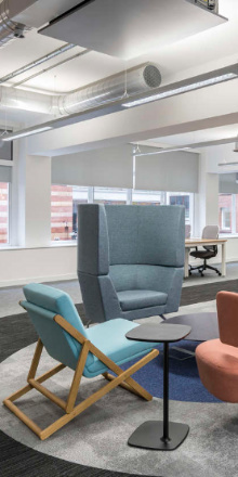 Colourful office fit out