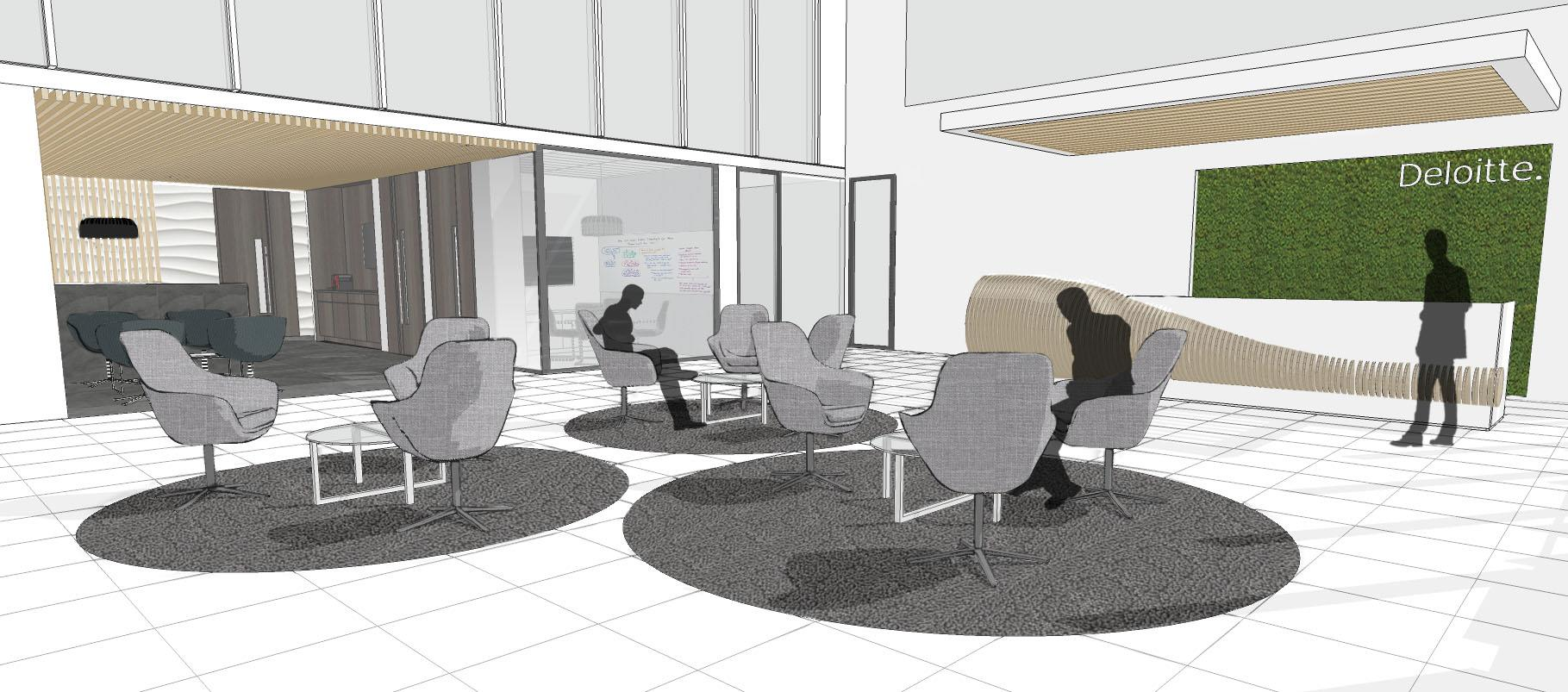 Deloitte s birmingham hq transformation underway overbury - Bnp paribas birmingham office ...