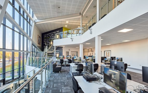 Dudley College fit out atrium computers