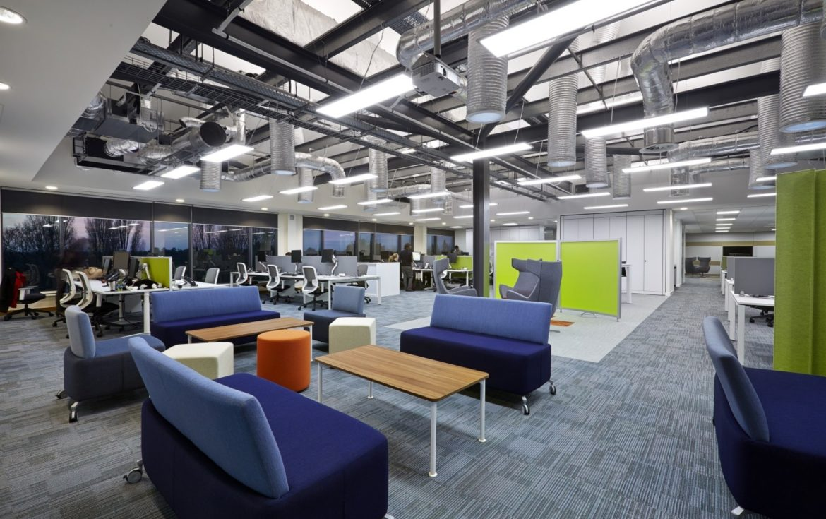 Npower office design and fit out for agile working