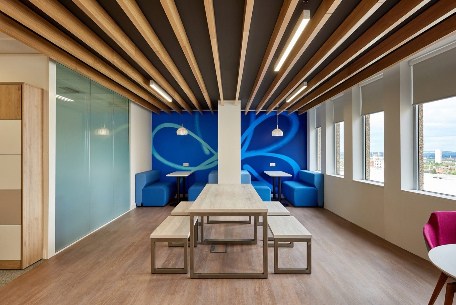 Alzheimers Society office interior design for neurodiversity